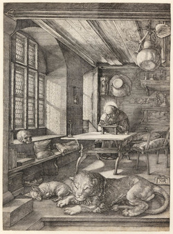 St Jerome in his Study, Albrecht Durer, (1514), Print, Museum Accession Number: 22-i-3-66, © Fitzwilliam Museum, Cambridge